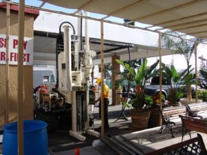 Direct Push drilling in Carwash